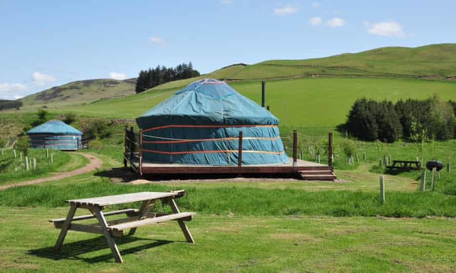 Yurtas de Ettrick Valley en Escocia