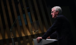 John McDonnell delivers a speech at Bloomberg Headquarters in London, in April 2018. The shadow chancellor is aware Labour needs to keep the markets on side.
