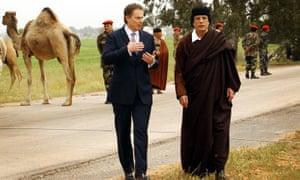 Blair and Gaddafi in 2004