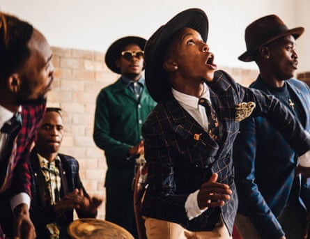 Musical group performs as part of Tastemakers Africa project.