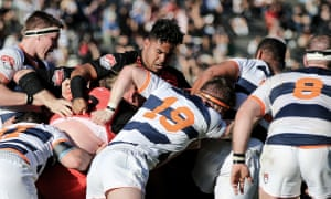 Rugby United New York, in hoops, battle the San Diego Legion in round one of MLR 2019.