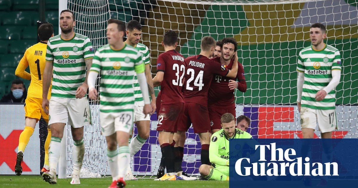 Celtic humiliated by Sparta Prague as Julis hat-trick sends them bottom