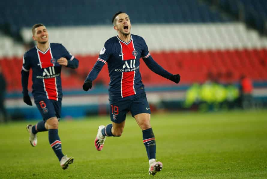 Pablo Sarabia scored PSG's third goal in their win over Brest.