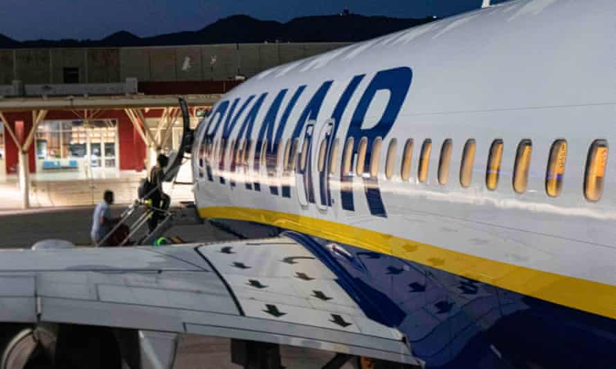 Ryanair carried 1 million passengers in April and 1.8 million in May.