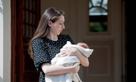 Helen Simmons with baby Isla … 'It felt like a 1960s-style birth.'