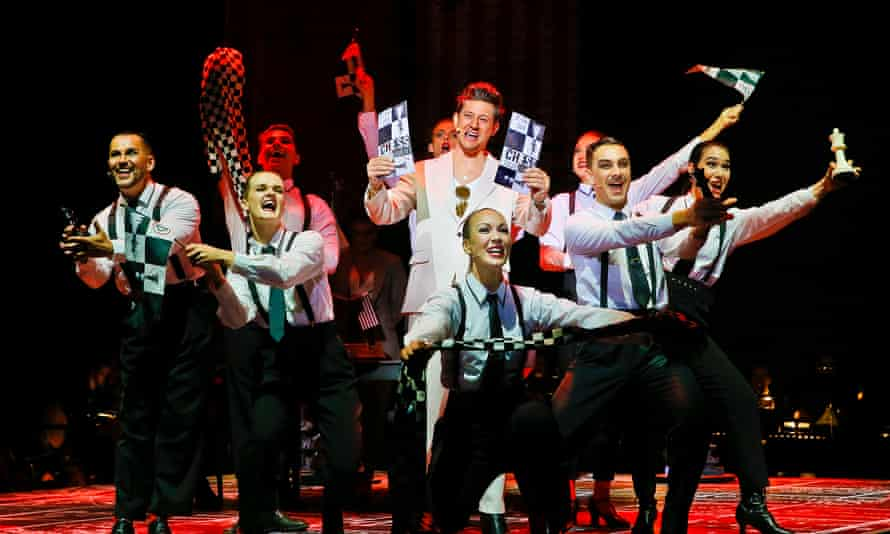 Rob Mills and ensemble in Abba's Chess: The Musical