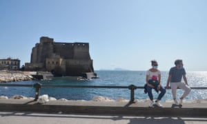 Naples, the regional capital of Campania, where face mask wearing is mandatory in all public places.