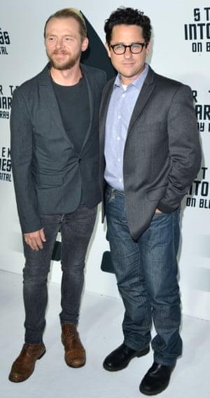 With Star Trek director J J Abrams.