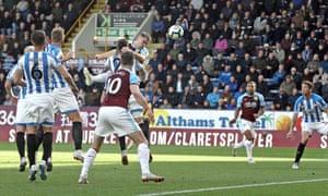 Sam Vokes headed Burnley into a first-half lead.