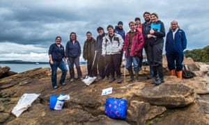 Marine Conservation volunteers taking part in the Marine Conservation Society's Great British Beach Clean event