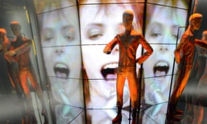 Who needs people when you've got a smartphone? The David Bowie Is… exhibition at the V&A in London.