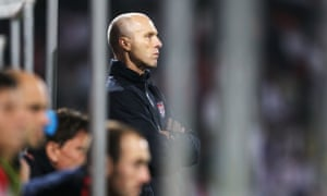 Bob Bradley looks on during USA's 1-1 draw with England at the World Cup in 2010.