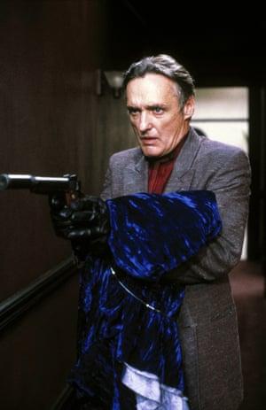 Dennis Hooper's Frank Booth carrying that blue velvet gown.