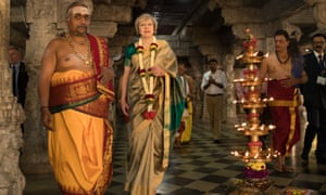 Theresa May visiting Bangalore in India in November 2016.