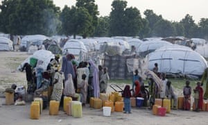 An internally displaced person camp in Maiduguri, Nigeria.