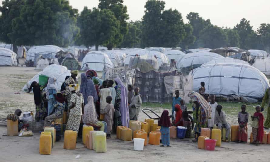 An internally displaced person camp in Maiduguri, Nigeria.