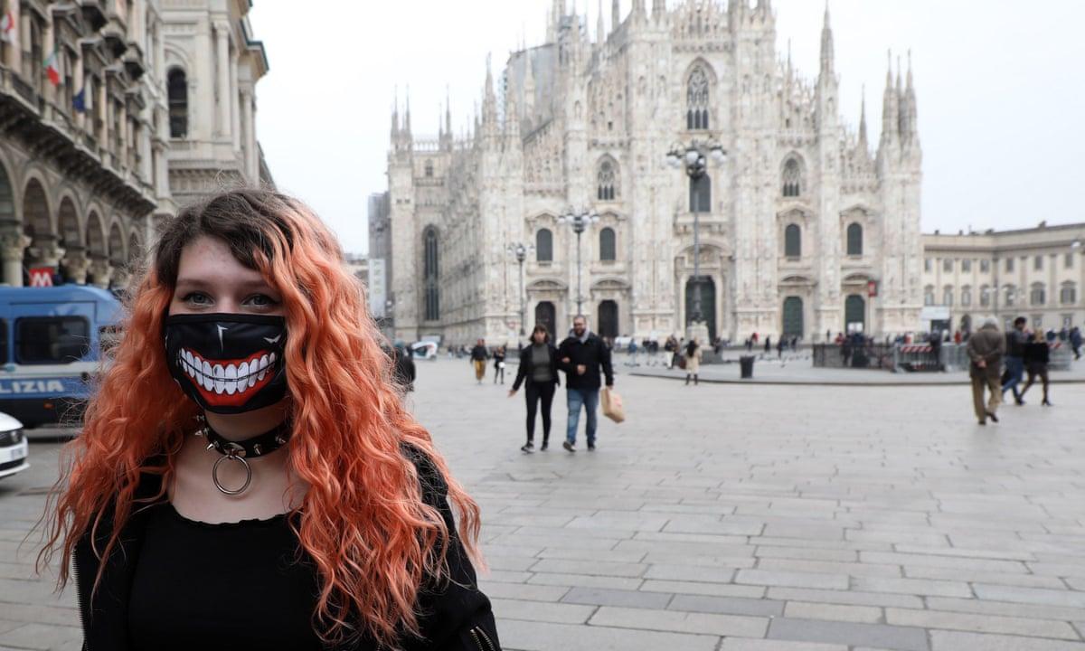It S Extremely Empty Coronavirus Brings Milan To A Standstill Coronavirus The Guardian