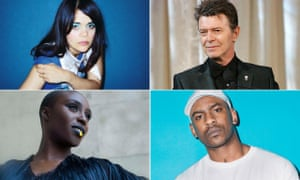 (clockwise from top left) Bat for Lashes, David Bowie, Skepta and Laura Mvula
