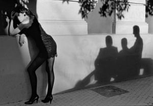 Celia Forner. Sevilla, 1988 SPAIN. Andalusia. Sevilla. 1988. Fashion photograph with the model Celia FORNER.