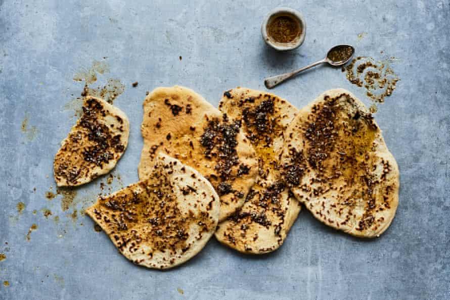 Anna Jones's za'atar and garlic butter flatbreads