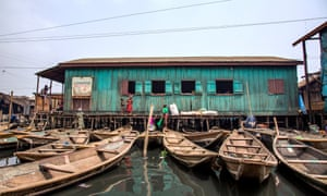 One of the many churches in Makoko.