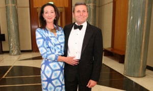 The ABC's political editor, Chris Uhlmann, and his wife, Labor MP for the seat of Canberra, Gai Brodtmann. He says he is accused of both left and rightwing bias.