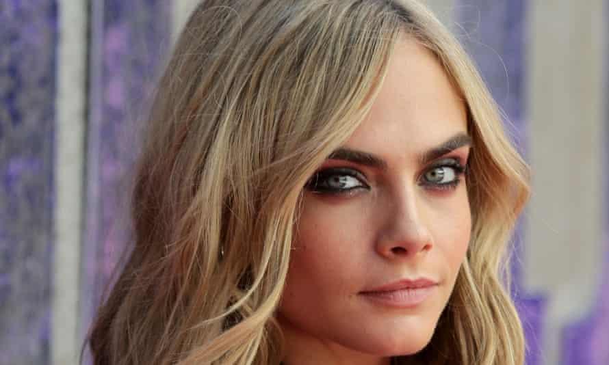 The brows have it: Cara Delevingne.