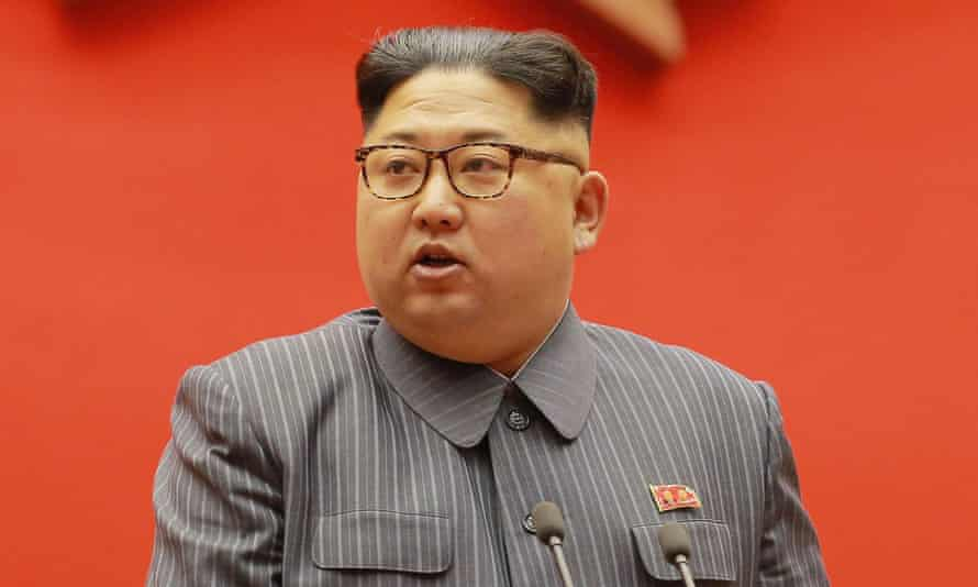 North Korean leader Kim Jong-Un during the 5th Conference of the Workers' Party of Korea Cell Chairpersons.