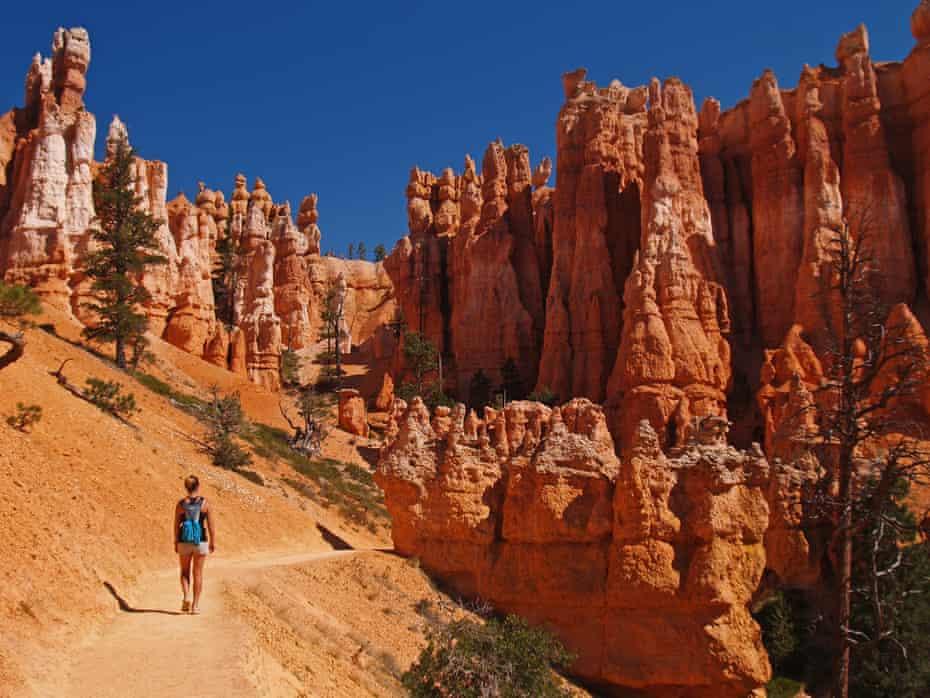 Walking in Bryce Canyon