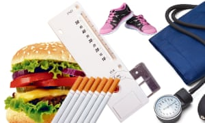 Give up the fags and burgers, go running and you can get you blood pressure and heart age down.