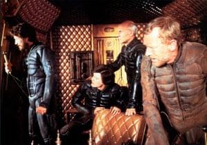 Jürgen Prochnow, Kyle MacLachlan, Patrick Stewart and Max von Sydow in Dune, 1984