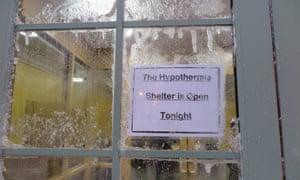 Homelessness shelter in US