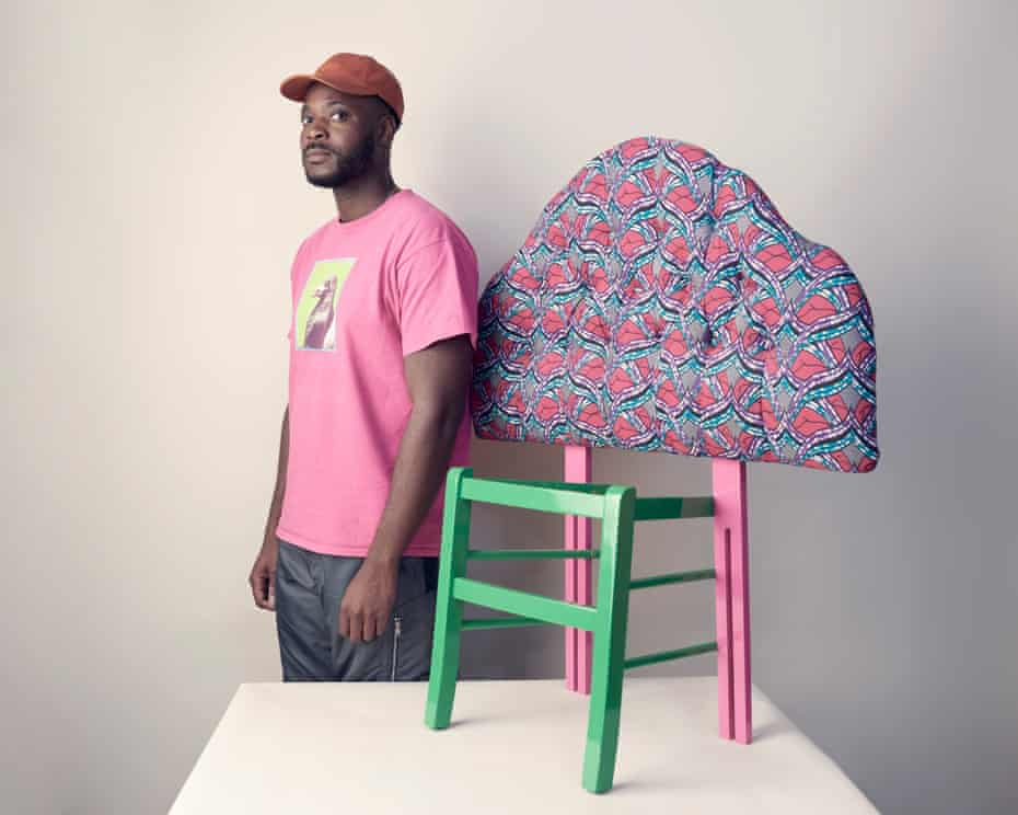 Yinka Ilori with a piece from his If Chairs Could Talk project.