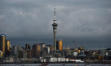 Una vista general de Auckland en Nueva Zelanda