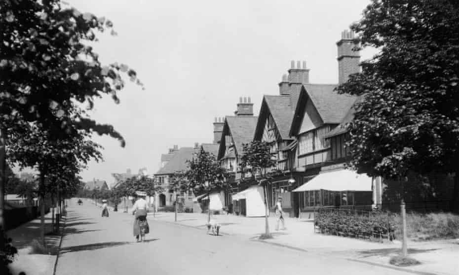 A street in Bournville Village near Birmingham