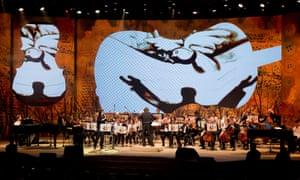 Francesco Lotoro conducting the Notes of Hope concert in Jerusalem