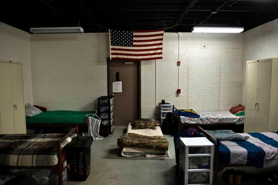A dorm room for clients recovering from drug addiction is seen at Recovery Point on April 19, 2017 in Huntington, West Virginia. Huntington, the city in the northwest corner of West Virginia, bordering Kentucky, has been portrayed as the epicenter of the opioid crisis.
