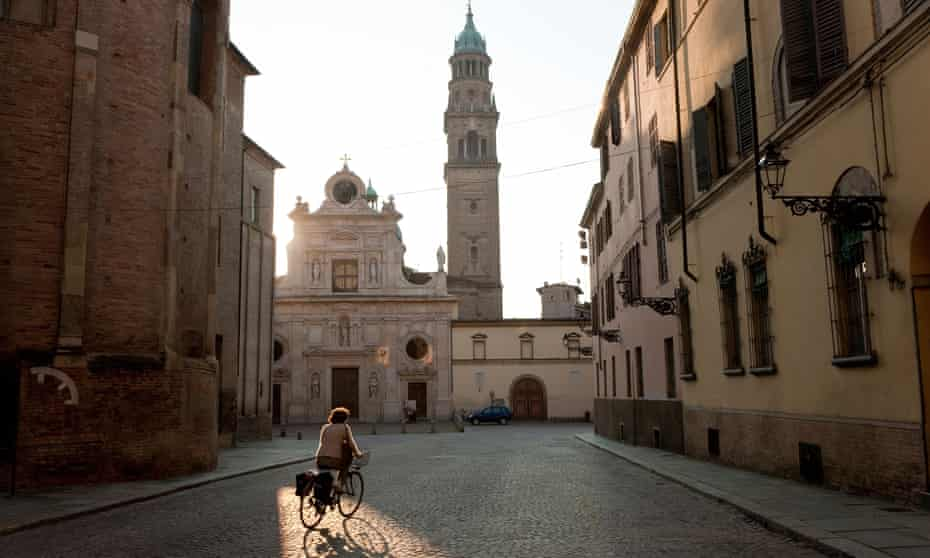 Tower of the Church of Saint John the Evangelist, Parma, Emilia Romagna, Italy