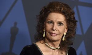 Sophia Loren in Los Angeles last year.