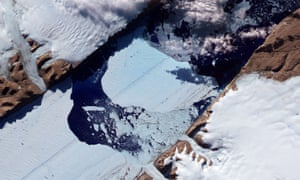 The block of ice bigger than Manhattan that broke off the Petermann glacier in 2012.