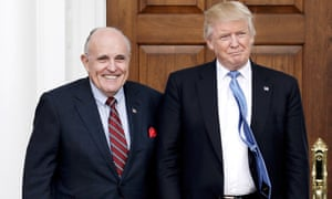 Rudy Giuliani told the Guardian he was not nervous about the possibility of Donald Trump 'throwing him under the bus'. 'I'm not, but I do have very, very good insurance.'