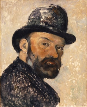 Self Portrait in a Bowler Hat, 1892, by Paul Cézanne.