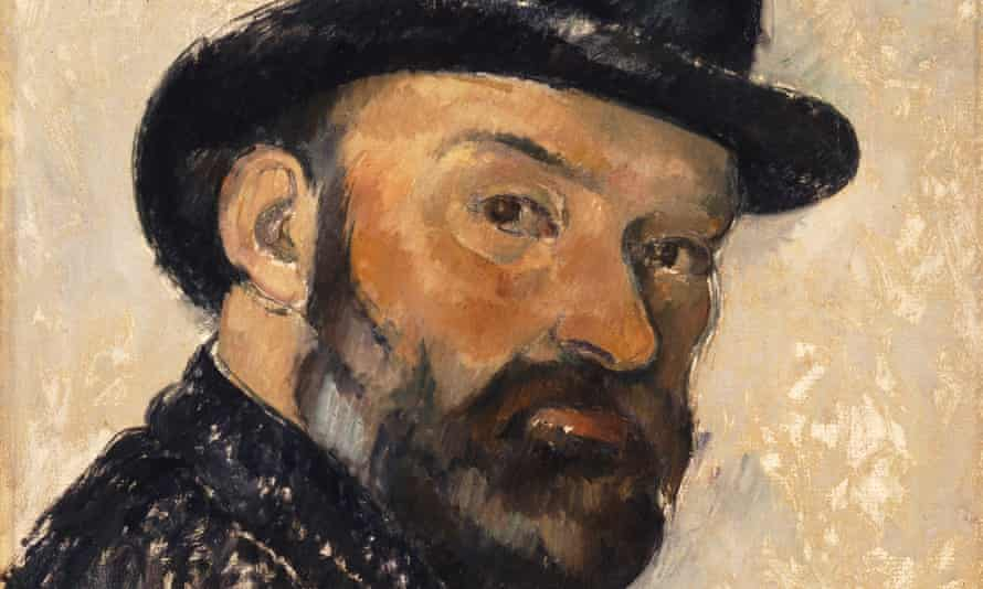 Revolutionary ... Detail of Self-Portrait in a Bowler Hat by Paul Cézanne, subject of the latest Exhibition on Screen presentation.