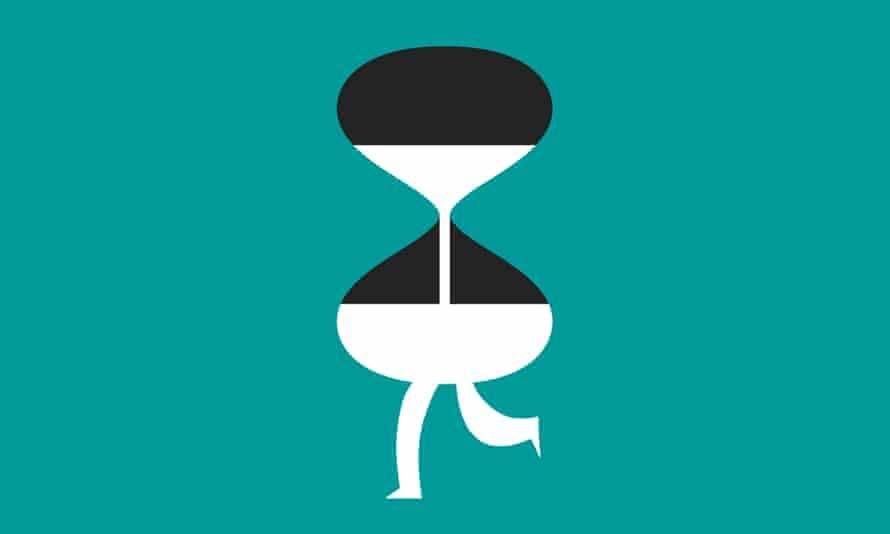 Illustration of hour glass running