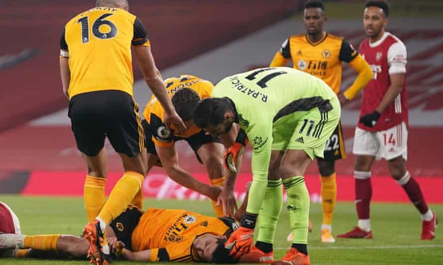 Raul Jiménez's injury at Arsenal