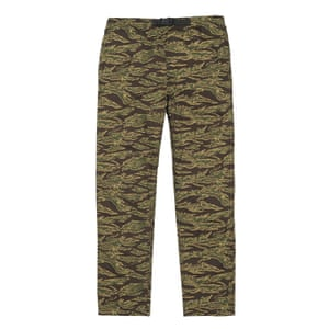 green, black yellow camouflage trousers Carhartt