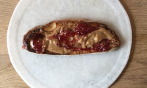 Peanut butter and jelly on toast
