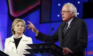 Senator Bernie Sanders and Secretary Hillary Clinton