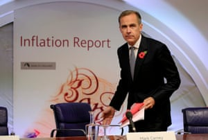 Bank of England Governor Mark Carney arrives for an inflation report news conference at the Bank of England in London, Britain November 5, 2015. The Bank of England gave no sign that it was in any more of a hurry to raise interest rates on Thursday, predicting near-zero inflation would pick up only slowly even if borrowing costs stay on hold all of next year. REUTERS/Jonathan Brady/pool