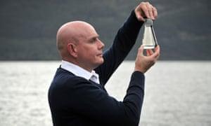 University of Otago geneticist Prof Neil Gemmell at Loch Ness